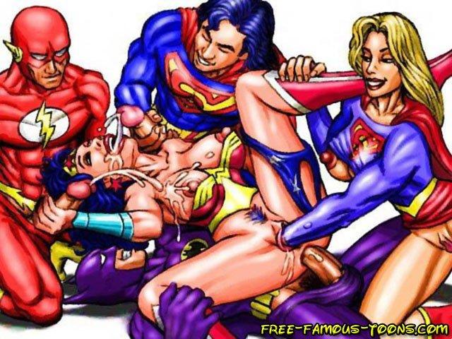 Superman and supergirl orgies