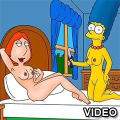 Marge Simpson and Lois Griffin sex