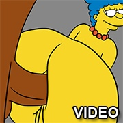 Marge Simpson ass fucked
