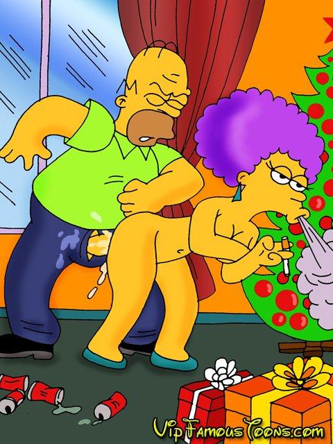 Simpsons Family Christmas Orgy